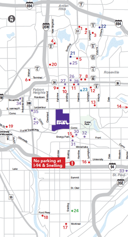 State Fair Park and Ride Map