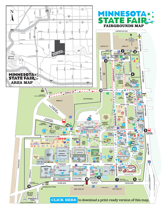 Minnesota State Fair Parking - State of mn map