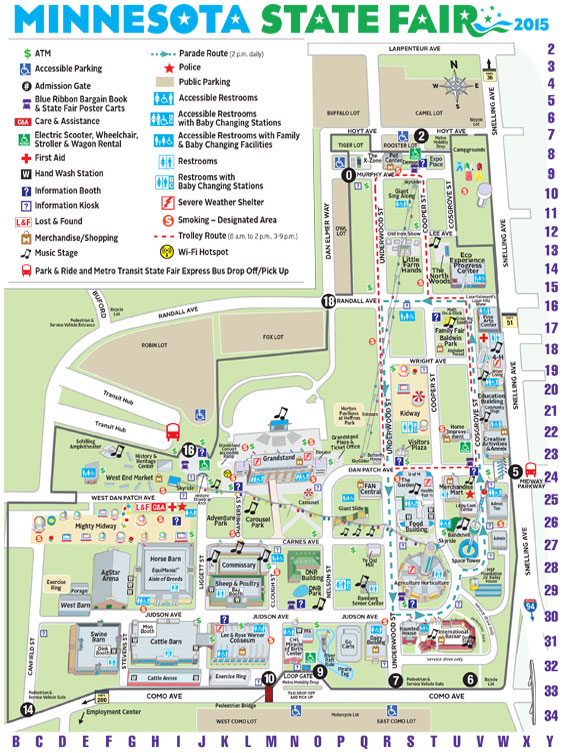 2015 Minnesota State Fair Map