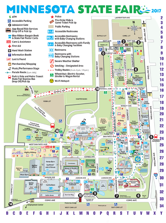 Minnesota State Fair Maps And Directions - State of minnesota map