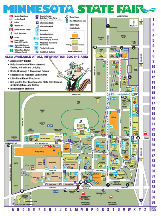 2012 Minnesota State Fair Map