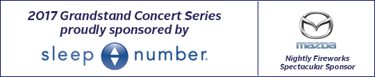 2017 Grandstand Concert Series sponsored by Sleep Number | Nightly Fireworks Spectacular sponsored by Mazda