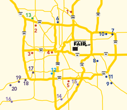 2017 State Fair Express Bus Service Map