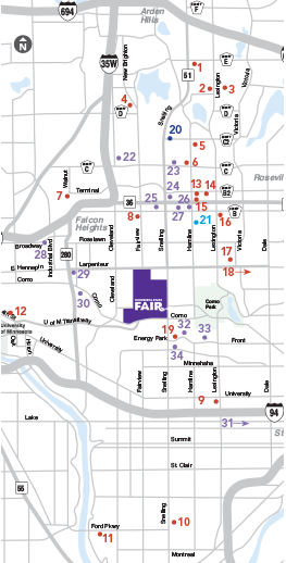 Minnesota State Fair Park FreeRide Free - Parking map us bank stadium