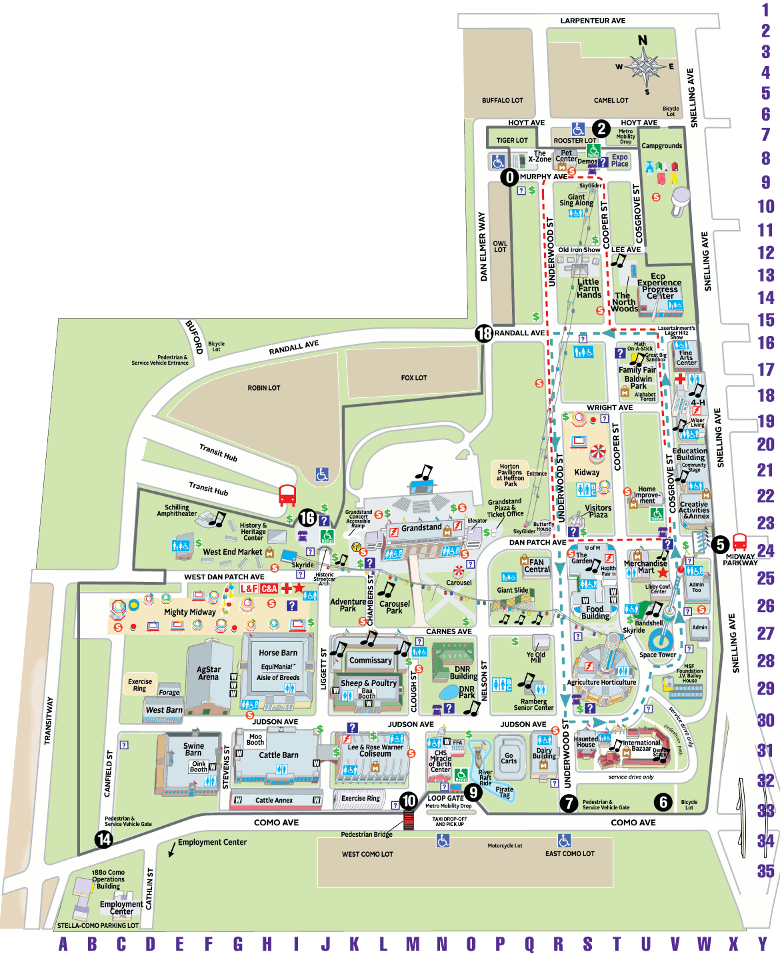 Fairgrounds Map