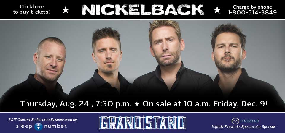 Click Here to Buy Nickelback Tickets | On sale 10 a.m. Fri., Dec. 9