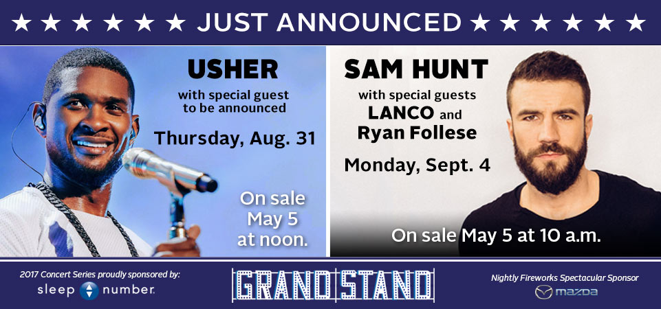 Usher and Sam Hunt - JUST ANNOUNCED!