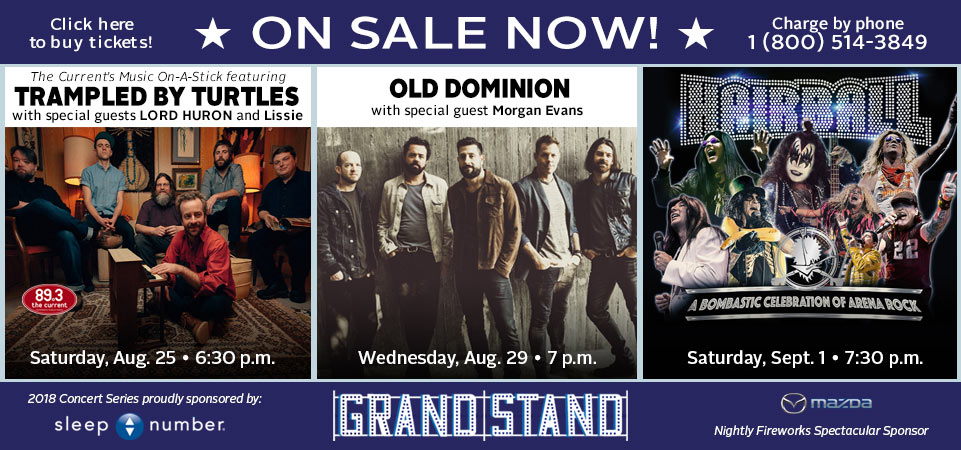 Grandstand Shows On Sale Now!