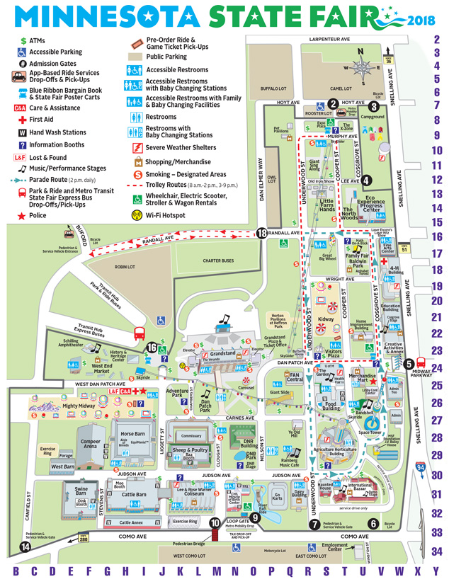 Map Of Mn State Fair Maps | Minnesota State Fair